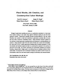 Fiscal Shocks, Job Creation, and Countercyclical Labor Markups