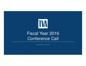 Fiscal Year 2016 Conference Call. November 15, 2016