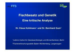Fischbesatz und Genetik
