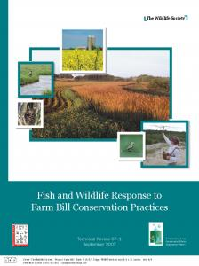 Fish and Wildlife Response to Farm Bill Conservation Practices