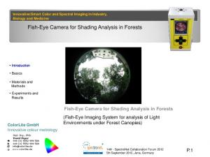 Fish-Eye Camera for Shading Analysis in Forests
