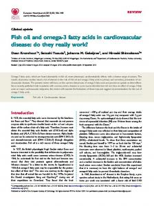 Fish oil and omega-3 fatty acids in cardiovascular disease: do they really work?