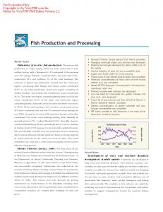 Fish Production and Processing