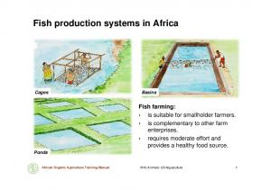 Fish production systems in Africa