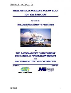 FISHERIES MANAGEMENT ACTION PLAN FOR THE BAHAMAS THE BAHAMAS REEF ENVIRONMENT EDUCATIONAL FOUNDATION (BREEF)
