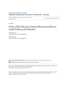 Fishes of the Missouri National Recreational River, South Dakota and Nebraska