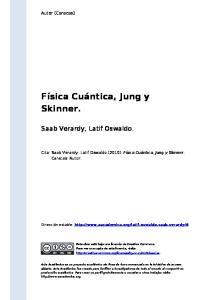 Física Cuántica, Jung y Skinner