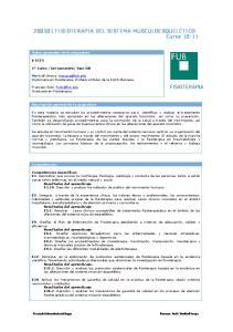 FISIOTERAPIA DEL SISTEMA MUSCULOESQUELÉTICO Curso 10-11