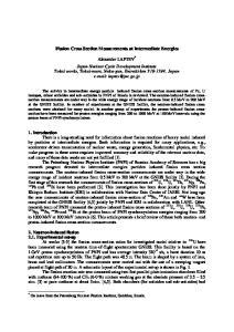 Fission Cross Section Measurements at Intermediate Energies. Alexander LAPTEV *