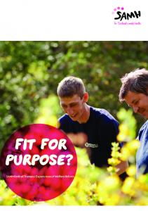 Fit for purpose? SAMH Redhall Trainees Experiences of Welfare Reform
