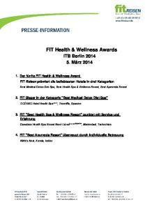 FIT Health & Wellness Awards