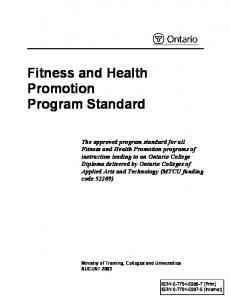 Fitness and Health Promotion Program Standard
