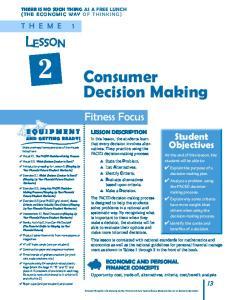 Fitness Focus LESSON DESCRIPTION
