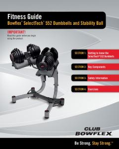 Fitness Guide Bowflex SelectTech 552 Dumbbells and Stability Ball