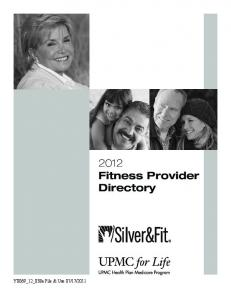 Fitness Provider Directory