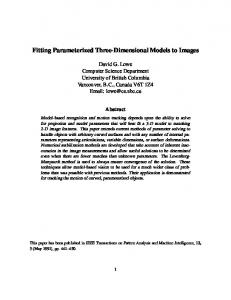 Fitting Parameterized Three-Dimensional Models to Images