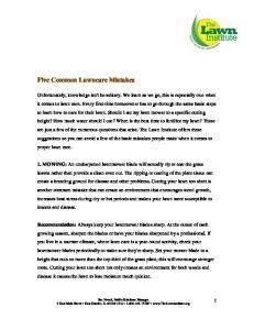 Five Common Lawncare Mistakes