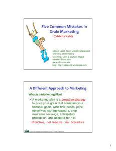 Five Common Mistakes in Grain Marketing
