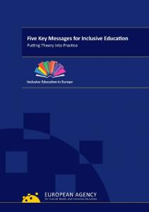 FIVE KEY MESSAGES FOR INCLUSIVE EDUCATION