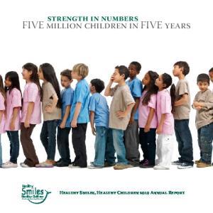 FIVE million children in FIVE years