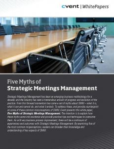 Five Myths of Strategic Meetings Management