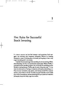Five Rules for Successful Stock Investing