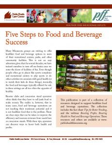 Five Steps to Food and Beverage Success
