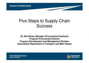 Five Steps to Supply Chain Success