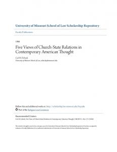 Five Views of Church-State Relations in Contemporary American Thought