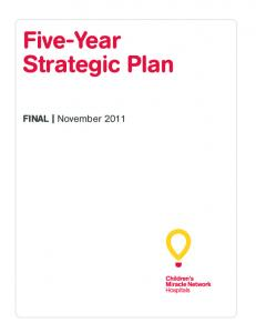 Five-Year Strategic Plan. FINAL November 2011