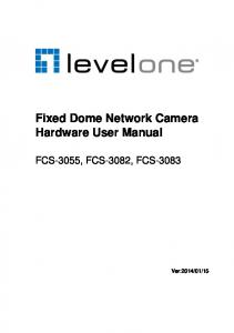 Fixed Dome Network Camera Hardware User Manual