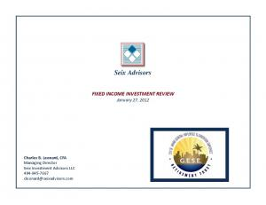 FIXED INCOME INVESTMENT REVIEW