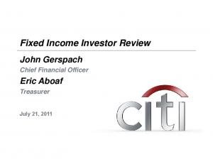 Fixed Income Investor Review
