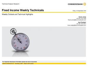 Fixed Income Weekly Technicals
