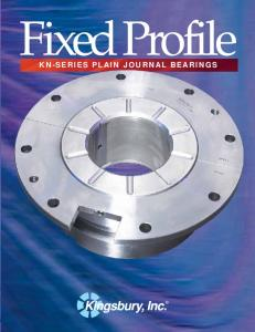 Fixed Profile KN-SERIES PLAIN JOURNAL BEARINGS