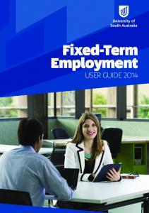 Fixed-Term Employment USER GUIDE 2014