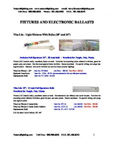 FIXTURES AND ELECTRONIC BALLASTS