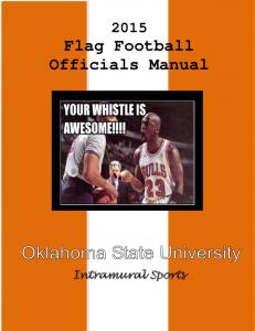 Flag Football Officials Manual