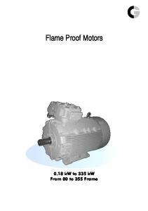 Flame Proof Motors kw to 335 kw