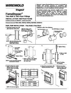 FlameStopper. Thru-Wall & Thru-Floor Fittings. INSTALLATION INSTRUCTIONS Installation Instruction No.: INS0010R2 Updated January 2007