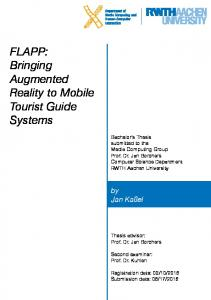 FLAPP: Bringing Augmented Reality to Mobile Tourist Guide Systems