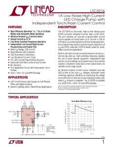Flash Current Control DESCRIPTION FEATURES APPLICATIONS TYPICAL APPLICATION