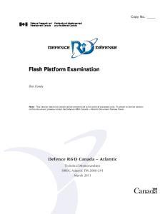 Flash Platform Examination