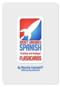 Flashcards Series 1 Saludos y Despedidas