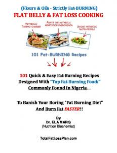 FLAT BELLY & FAT LOSS COOKING