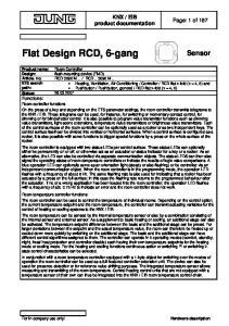 Flat Design RCD, 6-gang