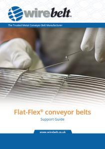Flat-Flex conveyor belts. Support Guide