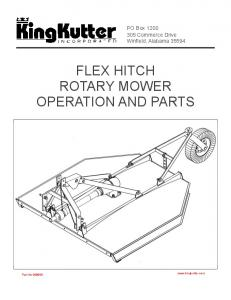 FLEX HITCH ROTARY MOWER OPERATION AND PARTS