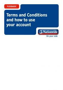 FLEXBASIC. Terms and Conditions and how to use your account