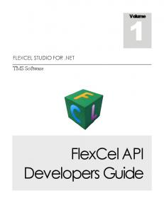 FlexCel API Developers Guide